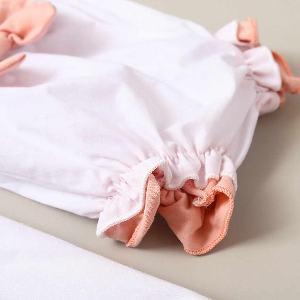 Iarloneet 2019 แฟชั่นเด็กวัยหัดเดินทารกเด็กสาวแขนสั้นลูกไม้ Patchwork กระโปรงเสื้อกางเกงขาสั้น Headbands ชุดร้อนขายเสื้อผ้า