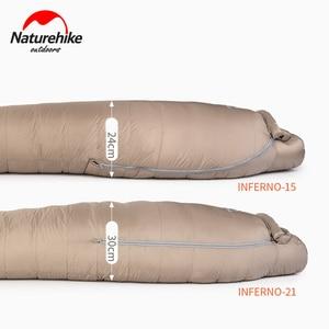 Image 2 - Naturehike Weiße Gans Unten Schlafsack Mummy 750FP Erwachsene Winddicht Wasserdicht Für Outdoor Camping Und Wandern NH19YD004