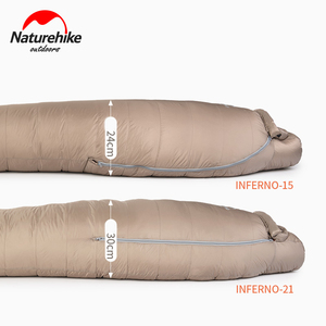 Image 2 - Naturehike White Goose Down Sleeping Bag Mummy 750FP Adult Windproof Waterproof For Outdoor Camping And Hiking NH19YD004