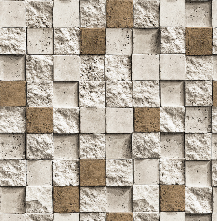 Retro 3D Brick Pattern Wallpaper Mosaic Brick Kitchen Restaurant Hotel Foot Bath Engineering PVC Brick Wallpaper