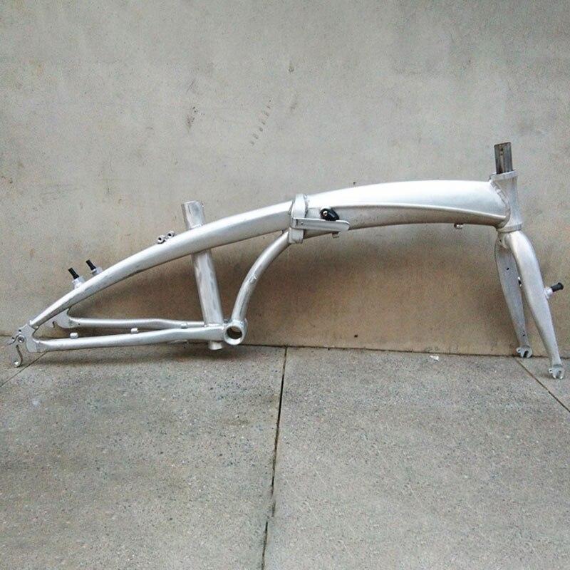 20 Inch Aluminum Alloy  Folding Bicycle Frame Front Fork Variable Speed Frame Road Steel Frame Road Frame