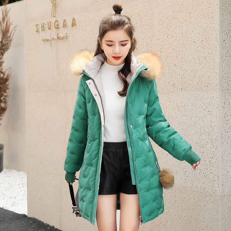 Women&39;s Jacket Large Size 2019 Female Long Hooded Fur Collar Parka_C3_24