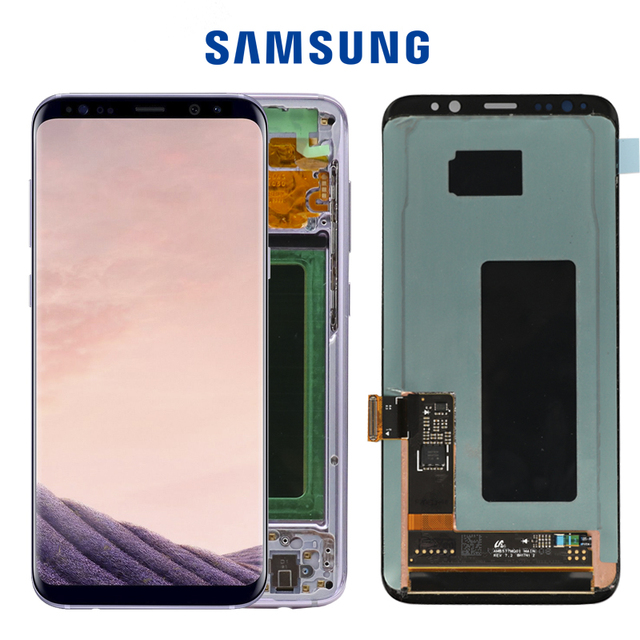 5.8 ORIGINAL S8 Display Screen for SAMSUNG Galaxy S8 Screen Replacement LCD Touch Digitizer Assembly G950F G950 with FRAME