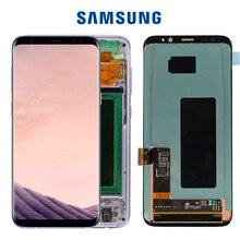 5.8 ORIGINAL S8 จอแสดงผลสำหรับSAMSUNG Galaxy S8 หน้าจอLCD TOUCH Digitizer ASSEMBLY G950F G950 กรอบ