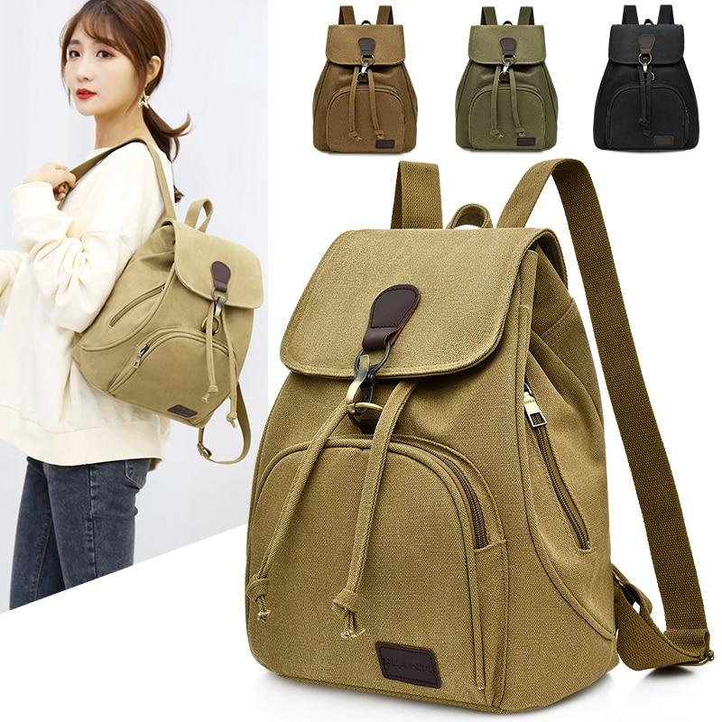Man Canvas Backpacks Vintage Schoolbag For Teenage Girls Retro College Student Fashion Male School Bags Fabric Knapsack