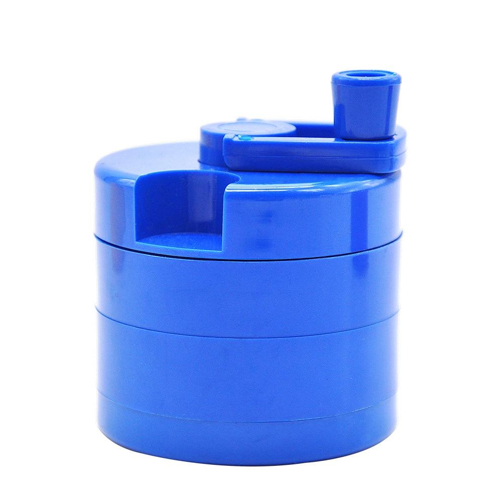 Plastic Herbal Herb Tobacco Herb Spice Grinder Herbal Smoke  3-layerCrusher Smoking Pipe Accessories 63mm Smoke Cutter
