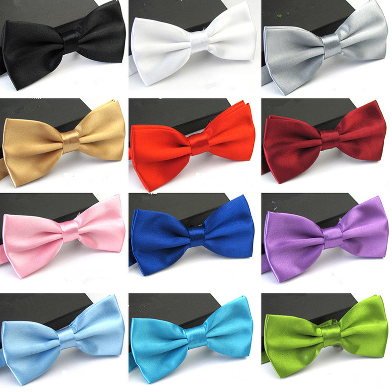 1PC Gentleman Men Adjustable Classic Satin Bowtie Necktie Tie For Wedding Party Adjustable Bow Tie Knot