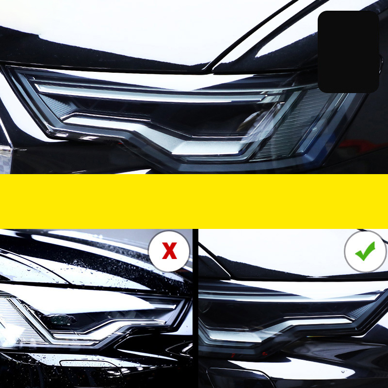 Lsrtw2017 TPU Transparent Black Car Headlight Film Protective Sticker for Audi A6 S6 C7 C8 2016 2017 2018 2019 2020
