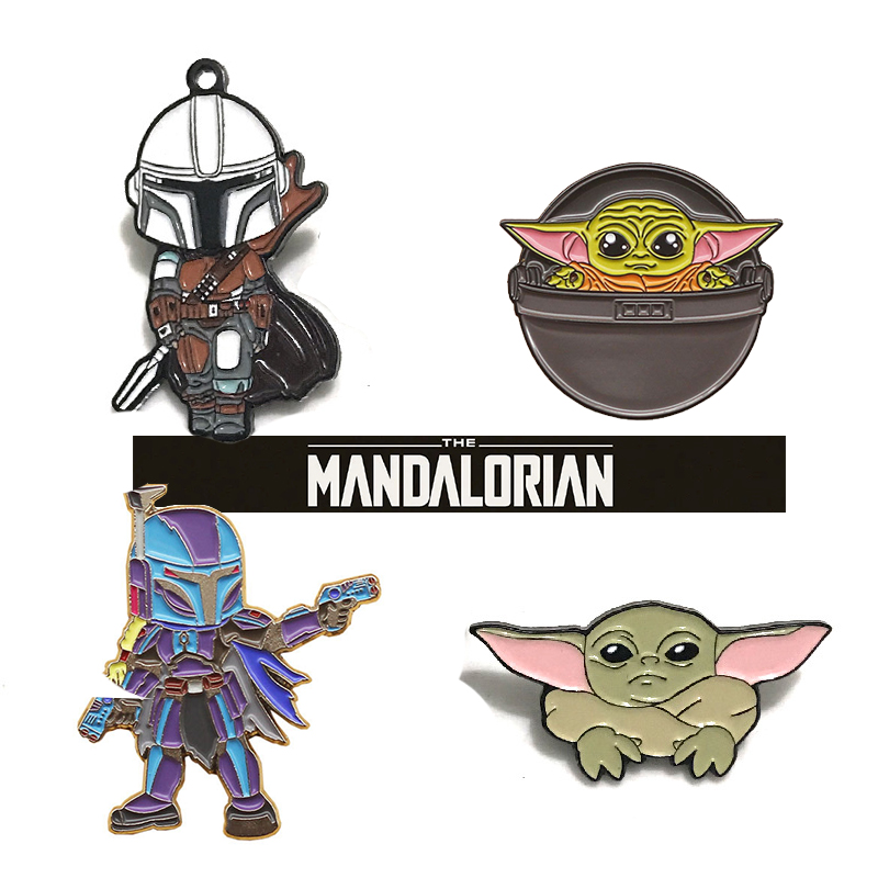 Yoda Baby Pins Brooch The Mandalorian Badge Cosplay Props Costumes Star Wars 9 Accessories Backpack