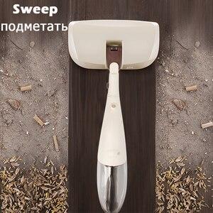 Image 4 - 3 in 1 Mop z natryskiem komplet mioteł magiczny Mop drewniane podłogi płaskie mopy urządzenie do czyszczenia domu gospodarstwa domowego z wielokrotnego użytku z mikrofibry klocki leniwy Mop