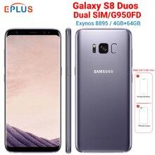 New Global Version Exynos 8895 Samsung Galaxy S8 G950FD Dual SIM 4GB RAM 64GB ROM Mobile