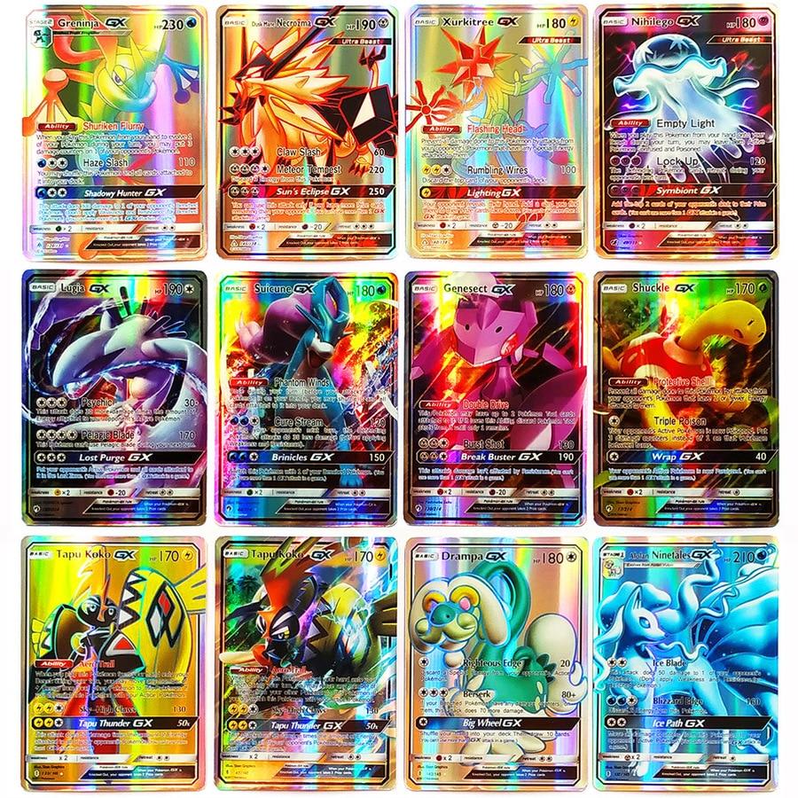 Takara Tomy Pokemon Card  Shining PTCG MEGA GX EX Energy Trainer Toys For Children Energy Battle Trading Game Flash