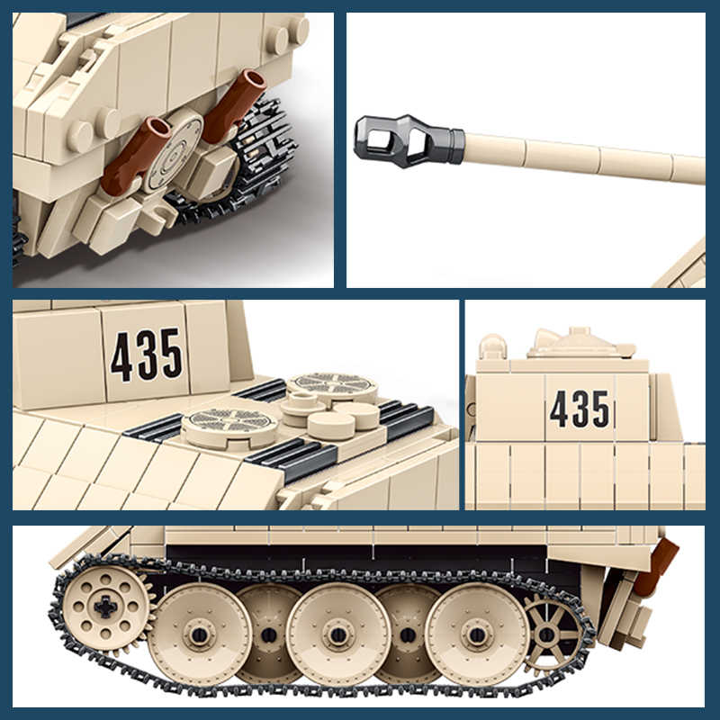 German Light Tank VK1602 Leopard Building Blocks Army Soldiers Military Toy Gift