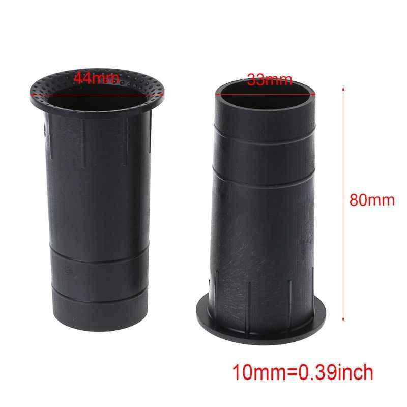 """2 piezas puerto de altavoz tubo lubina reflejo conector de ventilación 3-5 """"35x80mm Subwoofer caja de Woofer"""