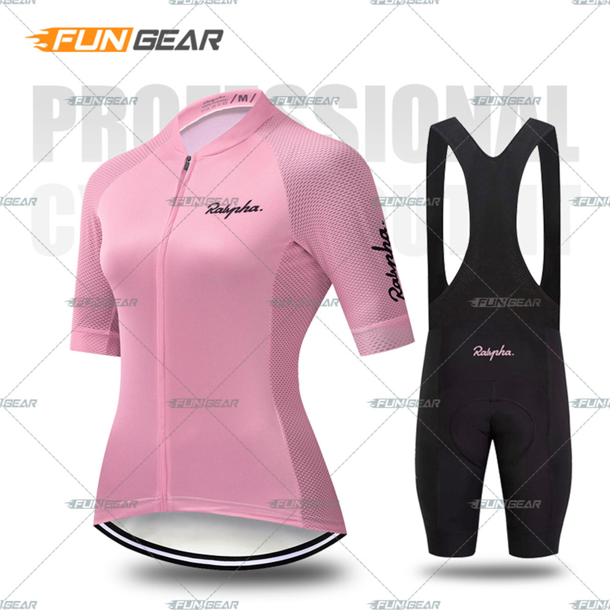 Women Cycling Clothing Bicycle Jersey Set Female MTB Ropa Ciclismo Girl Cycle Casual <font><b>Wear</b></font> Road <font><b>Bike</b></font> Bib Short Pant Pad 7 Colors image