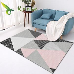 Home Bedroom Decor Summer Carpets Floral Prints Modern Living Room Decoration Bed Bedside Blanket Area Rug Floor Protection Mat