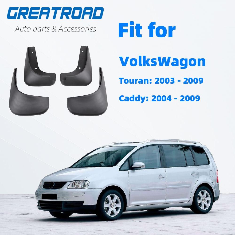 Vw Touran Caddy 2004-2010 フロントリア車の泥フラップ Mudflaps スプラッシュガード泥フラップマッド 2009 2008 2007 2006 2005