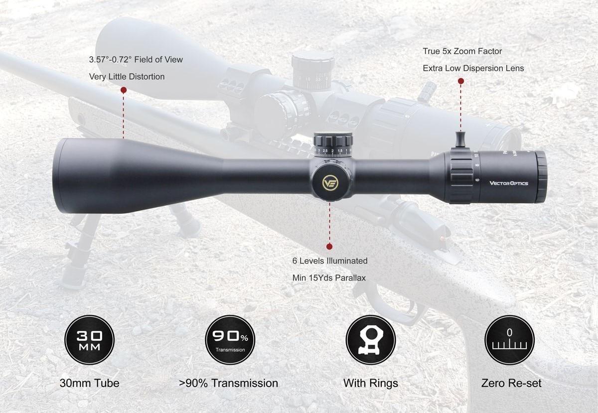riflescope óptico tático escopo 1 10 mil