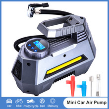 Car Tire Inflator Air Compressor Portable Inflatable Electrical Car Tire Pump for Auto 12V Digital Car Motorcycle Bike Air Pump