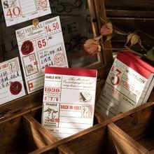 Journamm 30 sztuk Retro kronika notatnik i naklejki Do zrobienia lista papiernicze Memo szkoła papiernicze notatnik szkoła Post It Notes