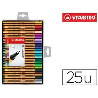MARKER STABILO FIBER NIB POINT 88 25 'S CASE COLORS ASSORTED