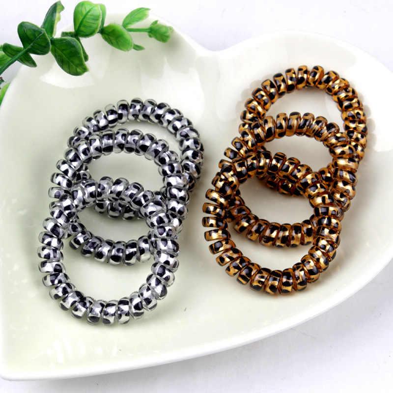 Леопардовые силиконовые резинки для женщин, эластичные резинки для волос на весну, аксессуары для волос