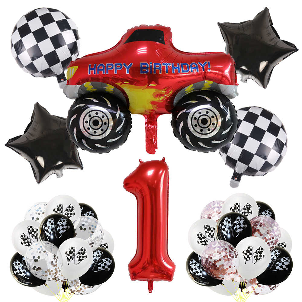 Blaze Monster Machines Nummer Ballonnen Set Verjaardagsfeestje Decoraties Jongens Gunsten Baby Douche Racing Auto Feestartikelen