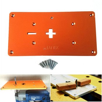 Aluminium elektryczne wyrzynarka Flip Board Router płytka stołowa dla Jig do obróbki drewna piła stoły robocze tanie i dobre opinie FNICEL Electric jig saw flip board