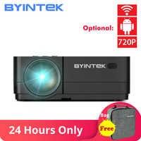 BYINTEK K7 inteligente Android Wifi Mini LED de vídeo portátil proyector HD para Iphone Ipad Smartphone Tablet juego 1080P a casa teatro