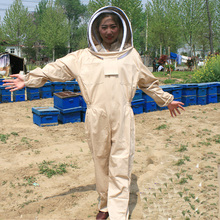 Beekeeping Suit Super Thick Beekeeping Suit Foldable Fencing Veil Coverall Bee Protecting Suit Smock with Front Zipper