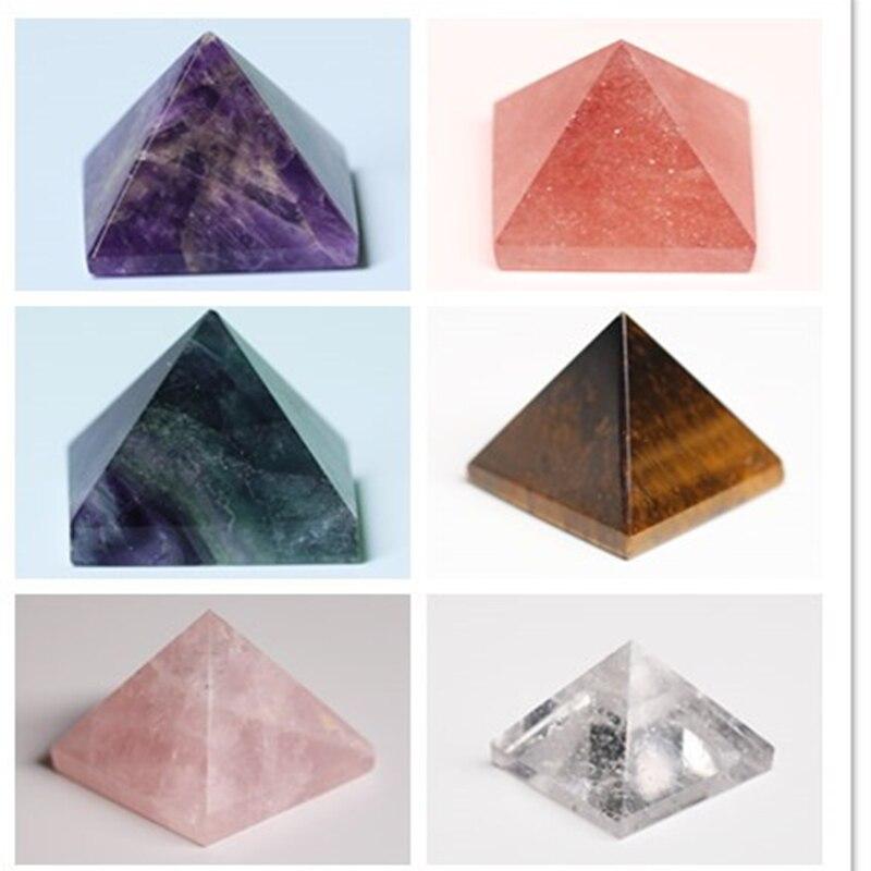 Yepyeni % 100% doğal kristal piramit florit kuvars şifa taşı çakra Reiki kristal noktası ev dekorasyon el sanatları mücevher 1 adet