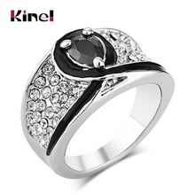 Kinel Big Ancient Ring Vintage Look Gold Color Unique Red Crystal Rings For Women Party Christmas Gift Turkey Jewelry zokol bearing 23088ca w33 spherical roller bearing 3053188hk self aligning roller bearing 440 650 157mm