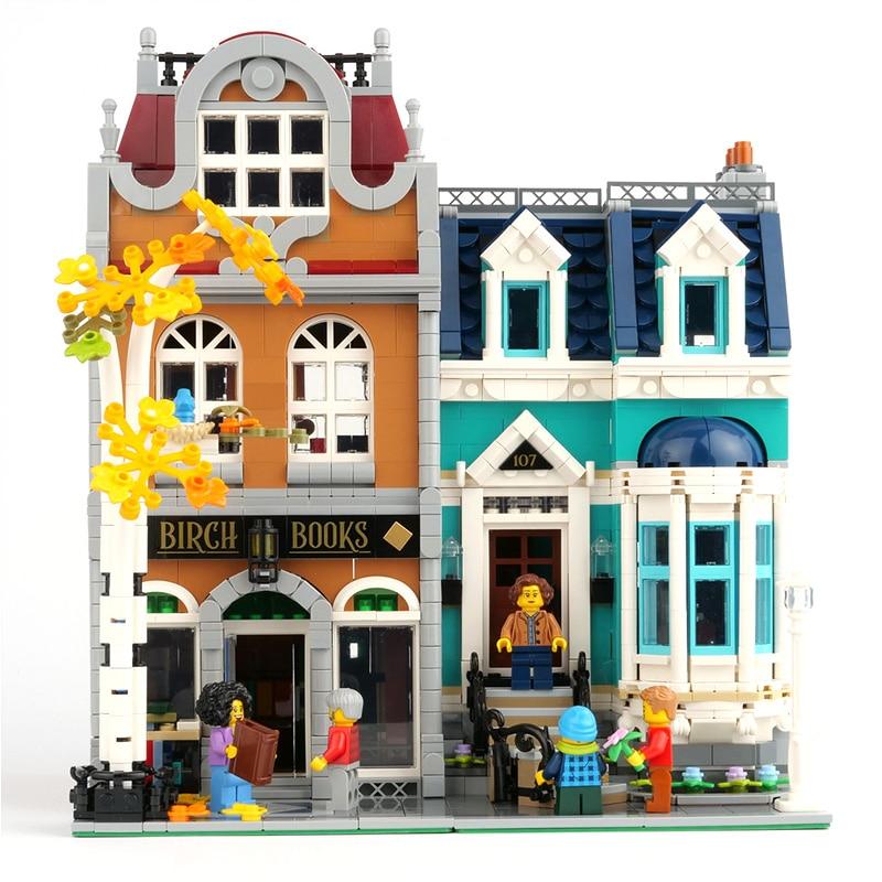 10270 Bookshop 2524Pcs Creator City Street View Model Building Kits Blocks Bricks Toys Children Gift Compatible Lepining