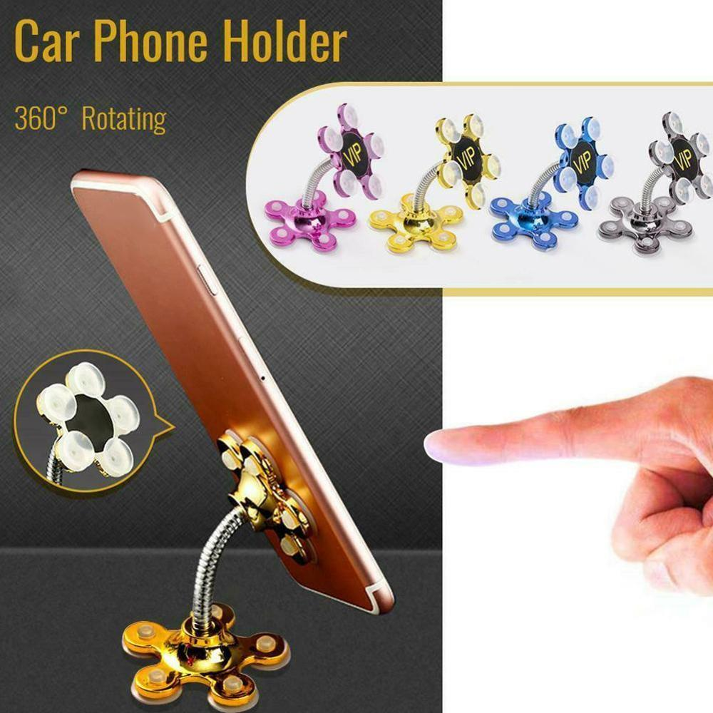 New Sucker Stand Phone Holder 360 Degree Rotatable Magic Suction Cup Mobile Phone Holder Car Bracket Smartphone Tablets Holder