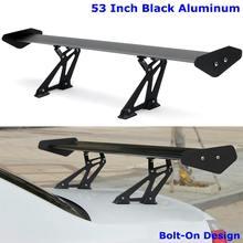Spoiler Universal Adjustable Racing-Wing GT Rear Aluminum Car Black 135cm Tail-Trunk