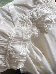 Image 4 - לבן כתונת לילה הלבשת ליידי אביב סתיו ארוך שרוול כותונת Loose נשים נסיכת כותנות לילה נוח