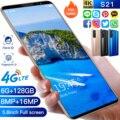 2021 Новое поступление S21 4 + 128GB/8GB/ядро Andriod 10 дешевые смарт-телефонов глобальной 5G полосы 5,8 Inch 8 + 16 Мп 4500 мА/ч, MTK6895 мобильных телефонов