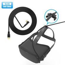 5 м линия передачи данных кабель для зарядки для Oculus Quest 2 Ссылка Очки виртуальной реальности VR гарнитура USB 3,0 Тип C передачи данных USB-A для Тип...