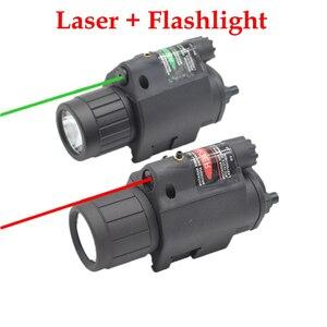 Тактический охотничий лазерный прицел Glock, светильник для оружия, светодиодный светильник для вспышки и красный зеленый лазерный прицел, 20 ...