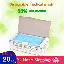 Hot sale 20 disposable medical surgical masks available from stock Coronavirus 95% face maks