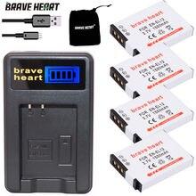 4x EN-EL12 батарея bateria en el12 ENEL12 + зарядное устройство для Nikon Coolpix S6000 S6100 S6150 S6200 S6300 AW100s AW110s AW120s Камера