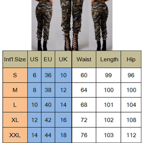 1pc Autumn Outdoor Camping Womens Camo Trousers Casual Hip-hop Military Army Combat Camouflage Pants S-2XL Plus size pants hot 8