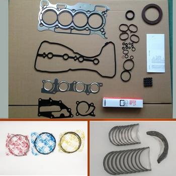 HR15 HR15DE Full gasket  kit crankshaft con rod bearing piston ring for Nissan Note Cube Blue bird/Evalia/Juke/Sunny/Almera 1.5L 1
