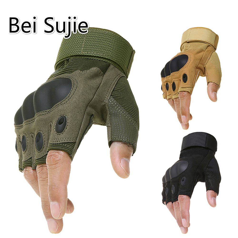 Tactical Gloves Without Fingers Outdoor Military Army Shooting Hiking Hunting Climbing Cycling Gym Riding Airsoft Half Finger Gl