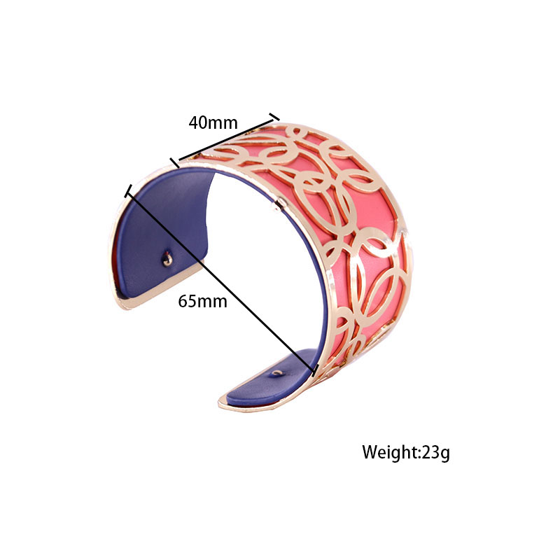 Interchangeable Bracelet for Women with Gold Color Flower Shaped Reversible Leather Cuff Bracelet Gros Bracelet Femme Bigoux