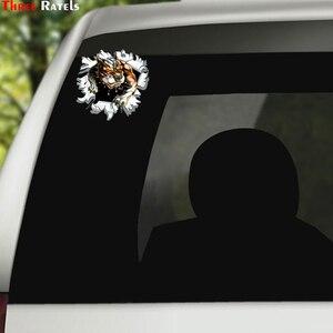 Image 5 - Three Ratels LCS271# 15x17см Тигр в пуле полноцветные наклейки на авто наклейки на машину наклейка для автомобиля автонаклейка стикеры