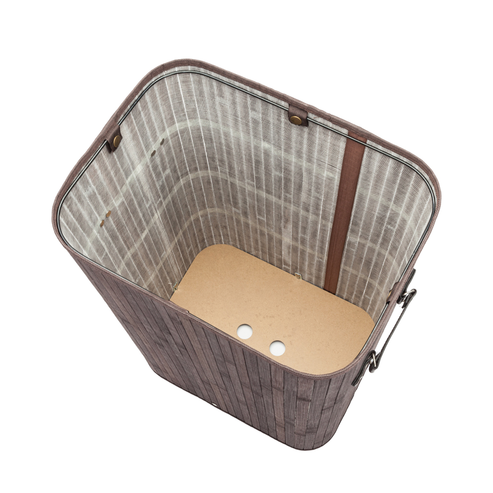 Portable Single Lattice Bamboo Folding Laundry Baskets Body Dirty Clothes Bin Box With Cover For Home Hotel Laundry Baskets Aliexpress