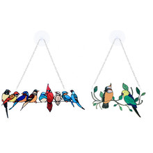Stained Glass Window Hangings Stained Glass Bird Ornaments Window Suncatcher For Home Decoration High Quality Safe And Durable