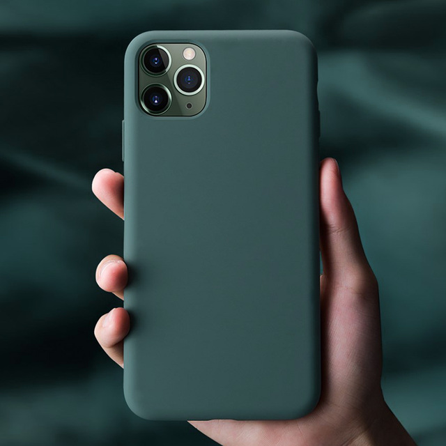 IPhone 11 Pro Max 11 Pro 용 실리콘 케이스 iPhone 7 8 Plus X Xr Xs Max 용 고품질 공식 오리지널 케이스