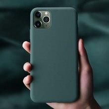 Silikon Fall für iPhone 11 Pro Max 11 Pro Hohe Qualität Offizielle Original Fällen Für iPhone 7 8 Plus X xr Xs Max